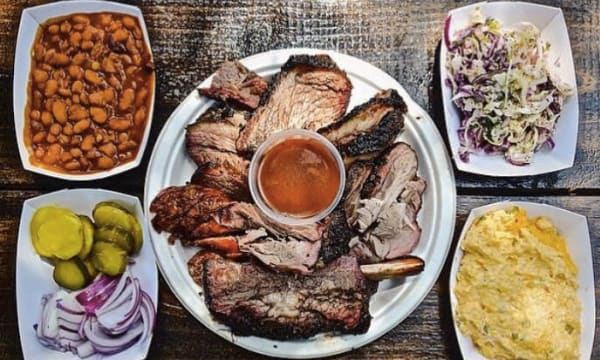 Sample catering from Ruby's Barbeque & Catering