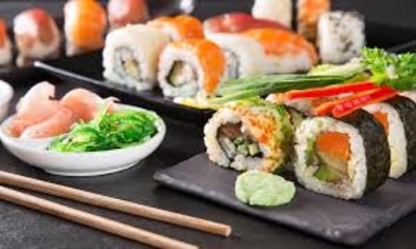 Sample catering from Kome Sushi