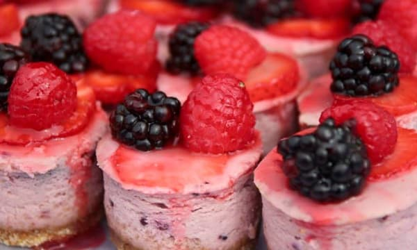 Sample catering from The Celia Jacobs Cheesecake Experience