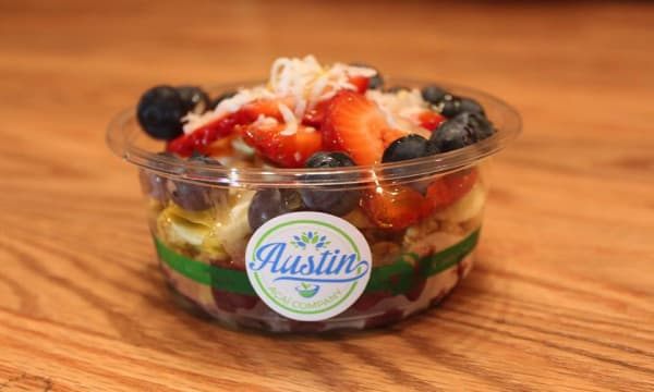Sample catering from Austin Acai