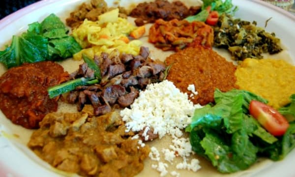 Sample catering from Massawa Restaurant