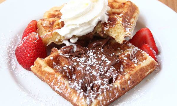 Sample catering from b. Street Waffles