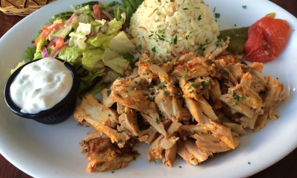 Sample catering from North Beach Gyros