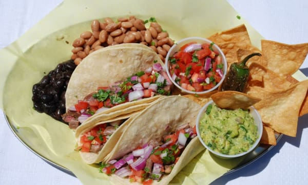 Sample catering from Benny's Tacos