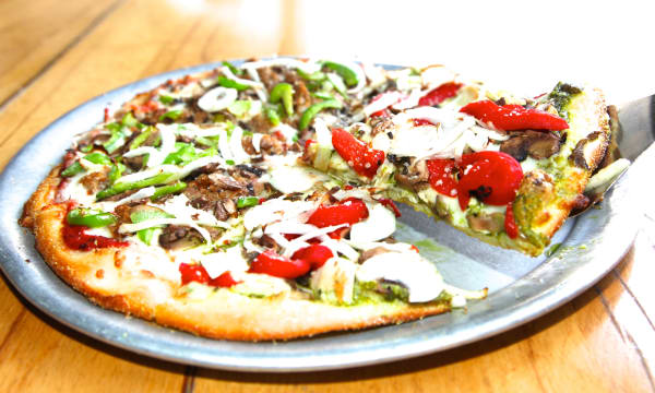 Sample catering from Blue Line Pizza - Mountain View