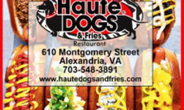 Sample catering from Haute Dogs & Fries
