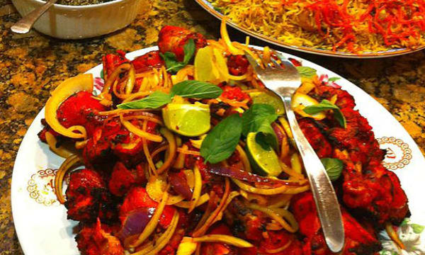 Sample catering from Bamian Restaurant