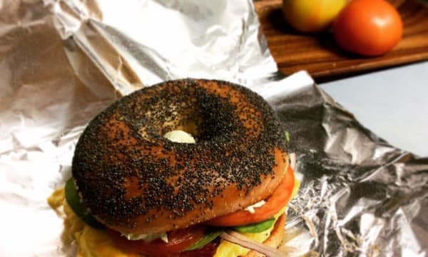 Sample catering from Rockstar Bagels