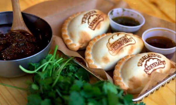 Sample catering from Nonna's Empanadas