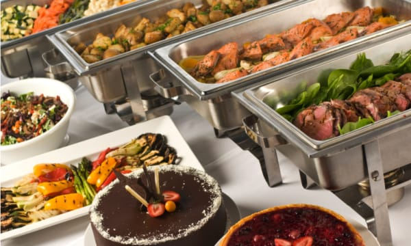 Sample catering from Rosehill Caterers