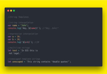 String upgrades in Javascript