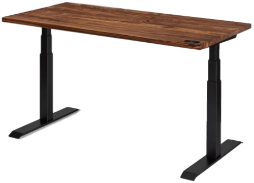 Sway-Desk-walnut-wood-top-black-frame