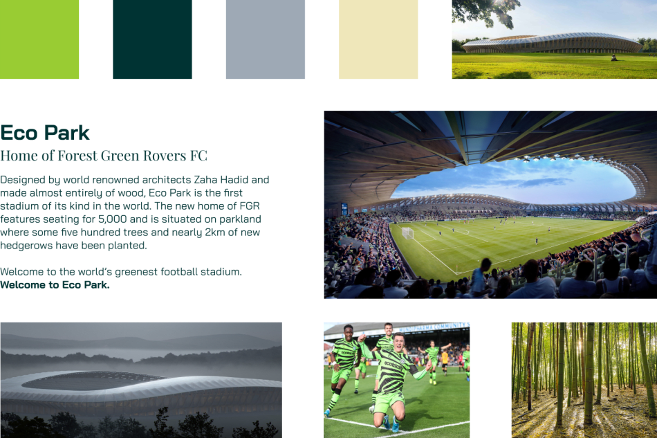 Mood Board for Forest Green Rovers FC