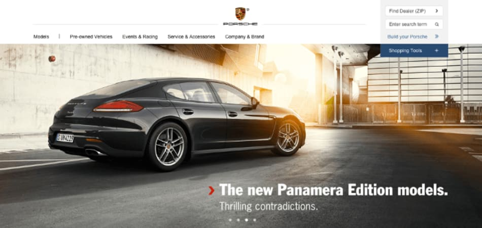 porsche.com screenshot