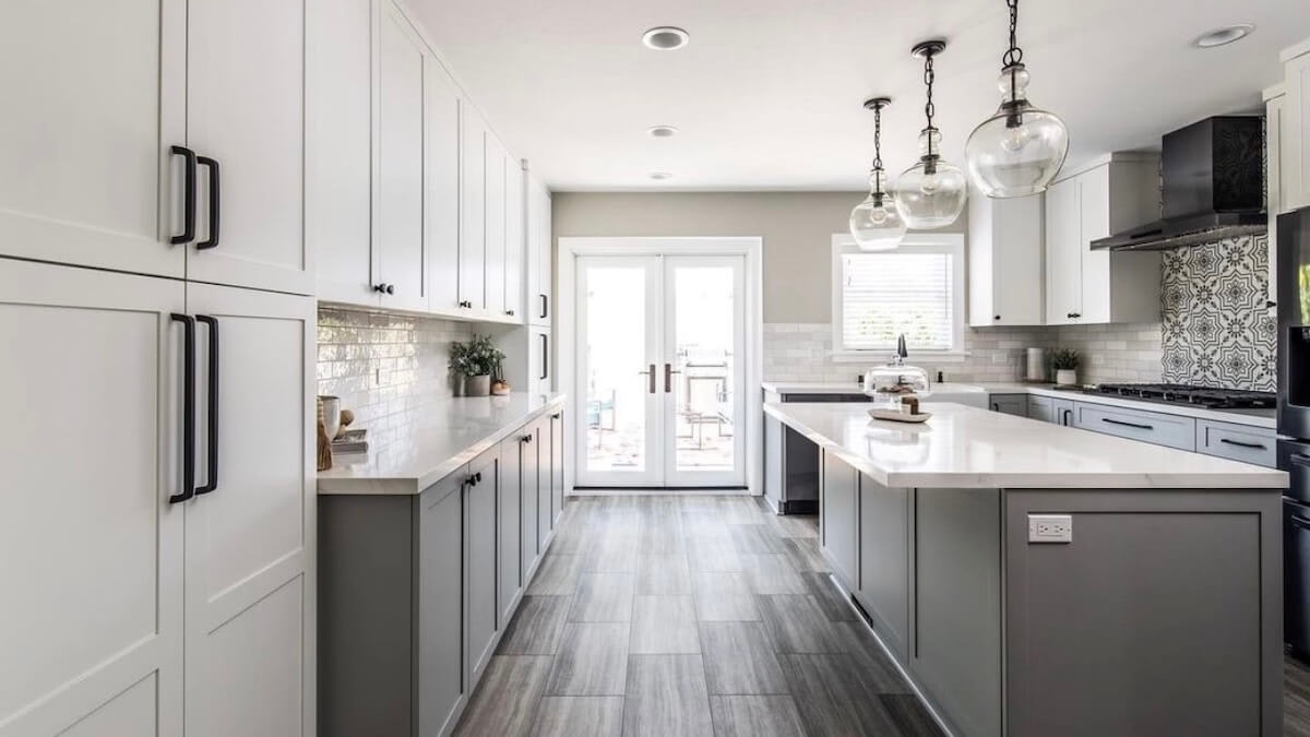 image of Hall remodeled kitchen