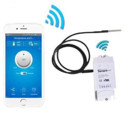 WiFi Water Temperature Sensor Sonoff TH16 KIT