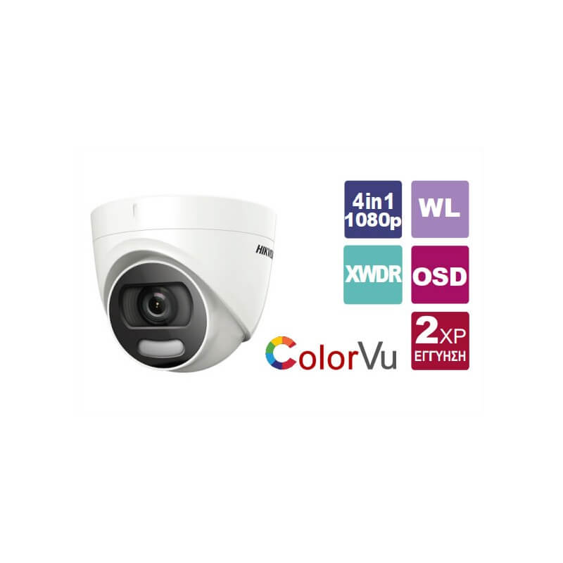 Camera  HIKVISION Colorvu 1080p DS-2CE72DFT-F 3.6