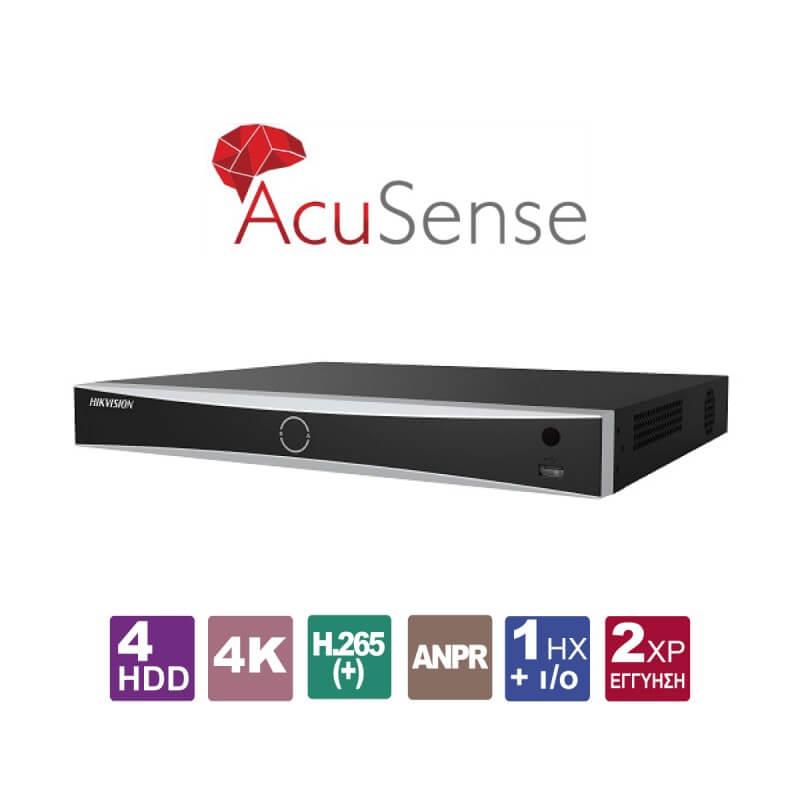 Acusense Δικτυακό Καταγραφικό NVR  HIKVISION DS-7716NXI-I4/4S για 16 IP Κάμερες