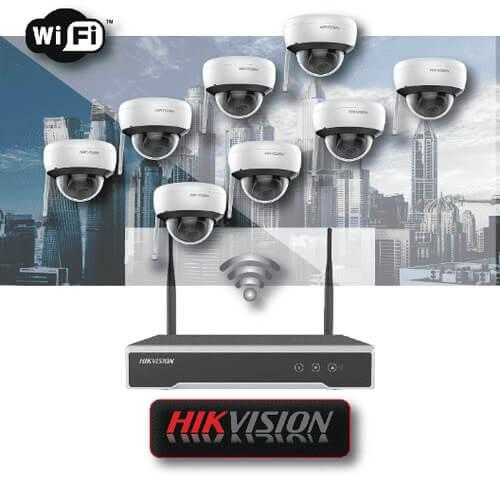 Wi-Fi ΚΙΤ 8 καμερών 2MP  HIKVISION με ασύρματο καταγραφικό NVR
