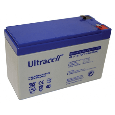 Ultracell Battery 12V 7Ah for Alarm systems