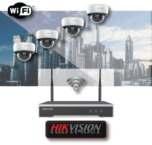 Wi-Fi ΚΙΤ 4 καμερών 2MP  HIKVISION με ασύρματο καταγραφικό NVR