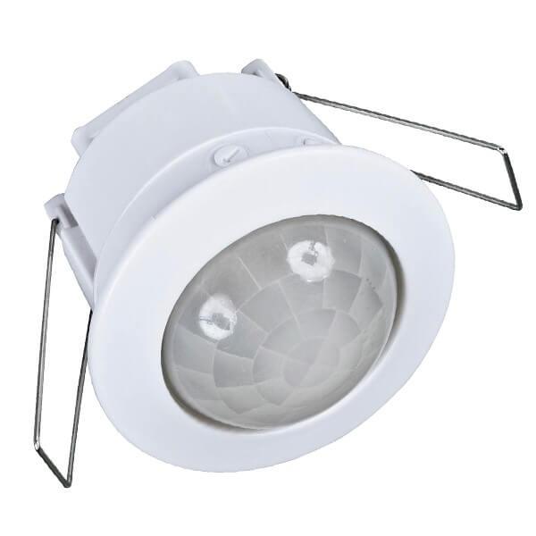 Χωνευτός Αισθητήρας Κίνησης Οροφής 360 Μοίρες 6A 230v Λευκός με αισθητήρα Φωτεινότητας