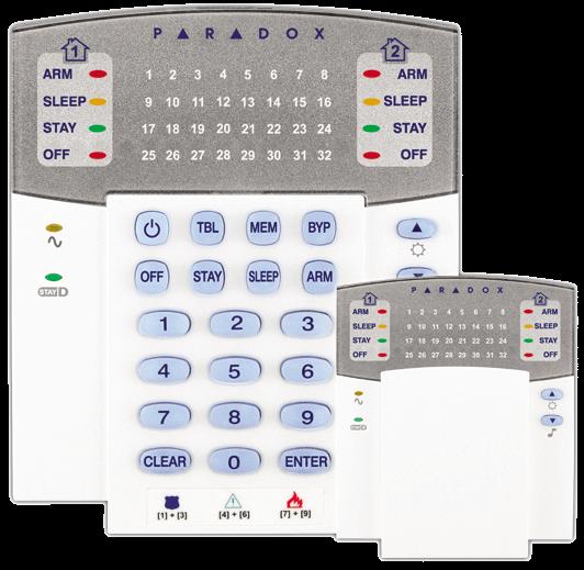 Ασύρματο Πληκτρολόγιο PARADOX K32RF LED