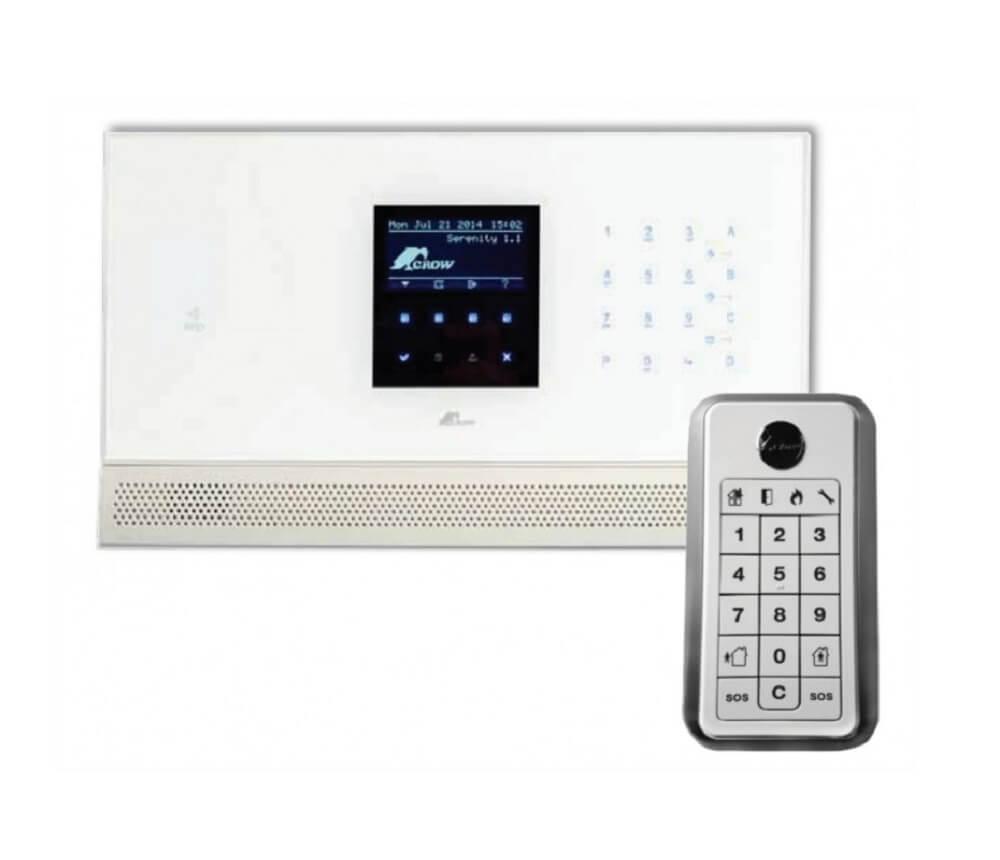 ΣΕΤ Ασύρματου Συναγερμού CROW SERENITY GSM KIT1 - Έλεγχος από Smartphone - Tablet
