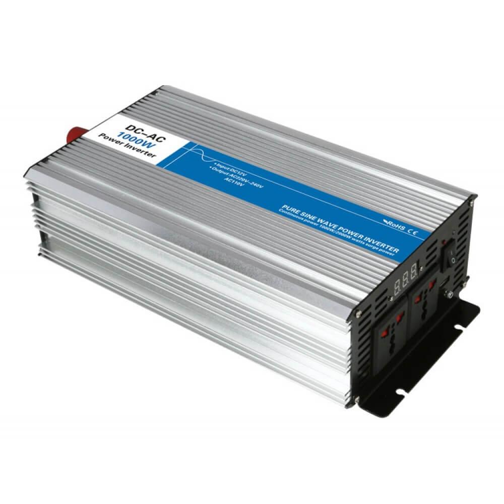 Inverter Καθαρού Ημιτόνου 12V DC - 230V AC 1000 Watt SN-1000