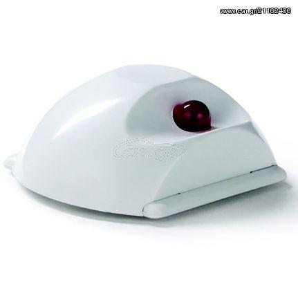 Φωτεινός επαναλήπτηςπυρανίχνευσης μεκόκκινοled.ΠλαστικόABS IP40.Τάσηλειτουργίας12‐24Vcc