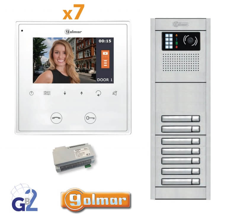 Kit Video Intercom Golmar 7 Appartments Vesta2 Nexa7 GB2