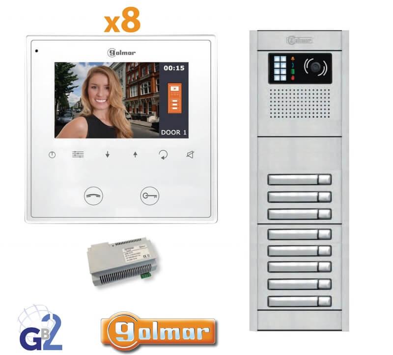 Kit Video Intercom Golmar 8 Appartments Vesta2 Nexa8 GB2
