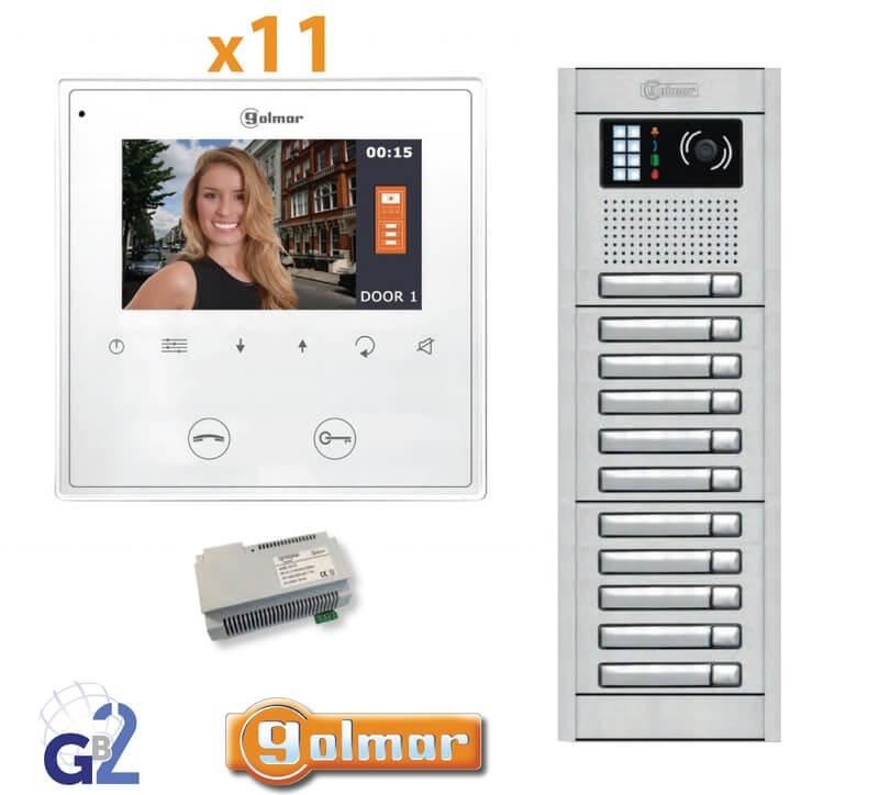 Kit Video Intercom Golmar 11 Appartments Vesta2 Nexa11 GB2