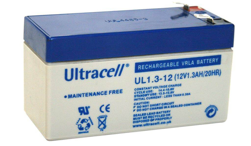 Security Alarm Battery Ultracell 12V 1.3Ah