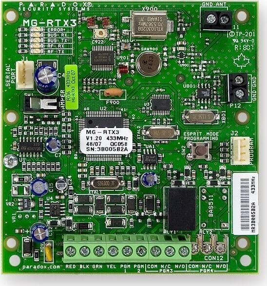 Ασύρματο Module επέκτασης RTX3 για ζώνες, PGM, δέκτης Paradox