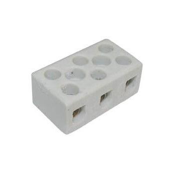 Κλέμα Ηλεκτρολογική Πορσελάνης 3P 8mm² 10A 1038 FRH