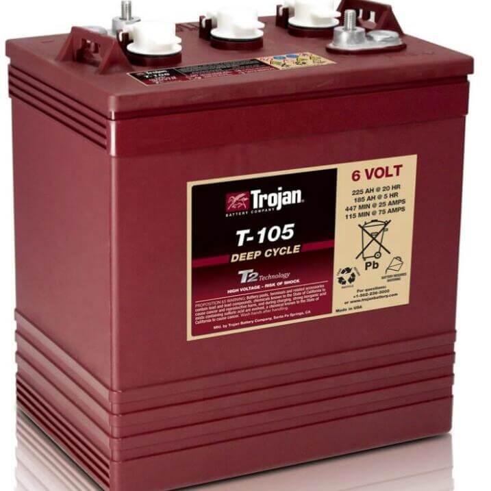 TROJAN Battery T105 PLUS 225Ah 6V