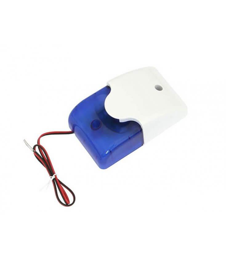 Σειρήνα Εσωτερικού χώρου με μπλε flash 12V DC SL-100 BLUE