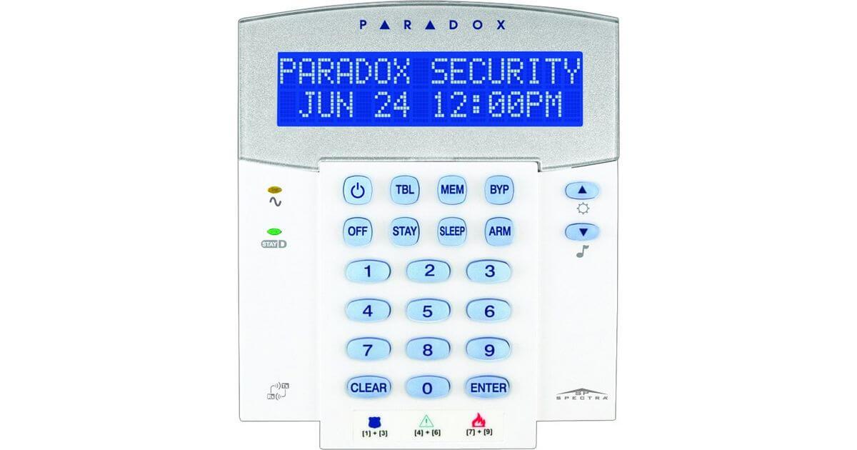 Πληκτρολόγιο Ενσύρματο PARADOX K35 LCD