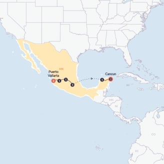 Mexico Grande Twin Room Start Puerto Vallarta End Cancun By Contiki