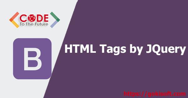 04. Thao tác lên tags html bằng jquery - Bootstrap