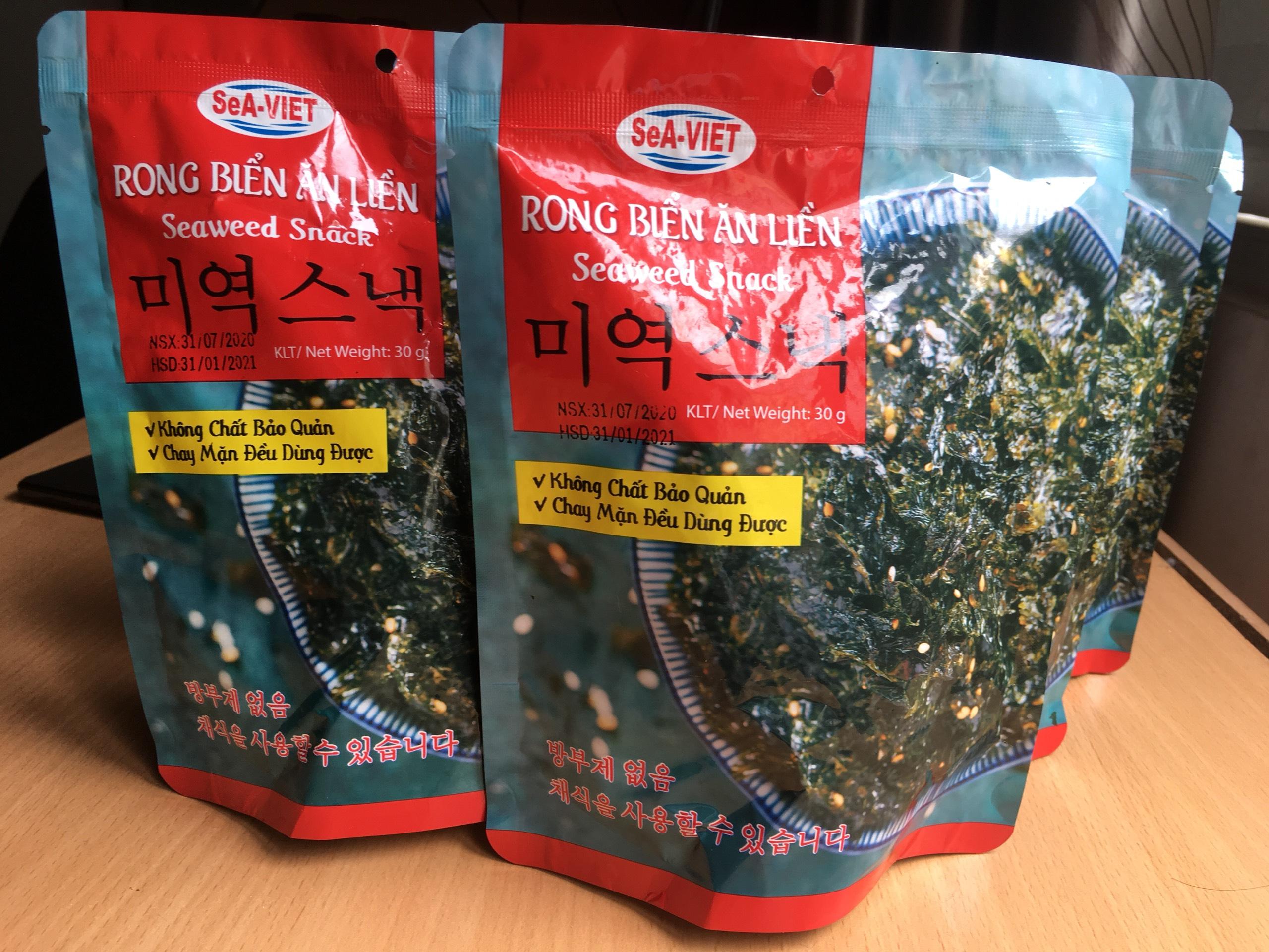 Rong biển cháy tỏi ăn liền - Đặc sản Nha Trang