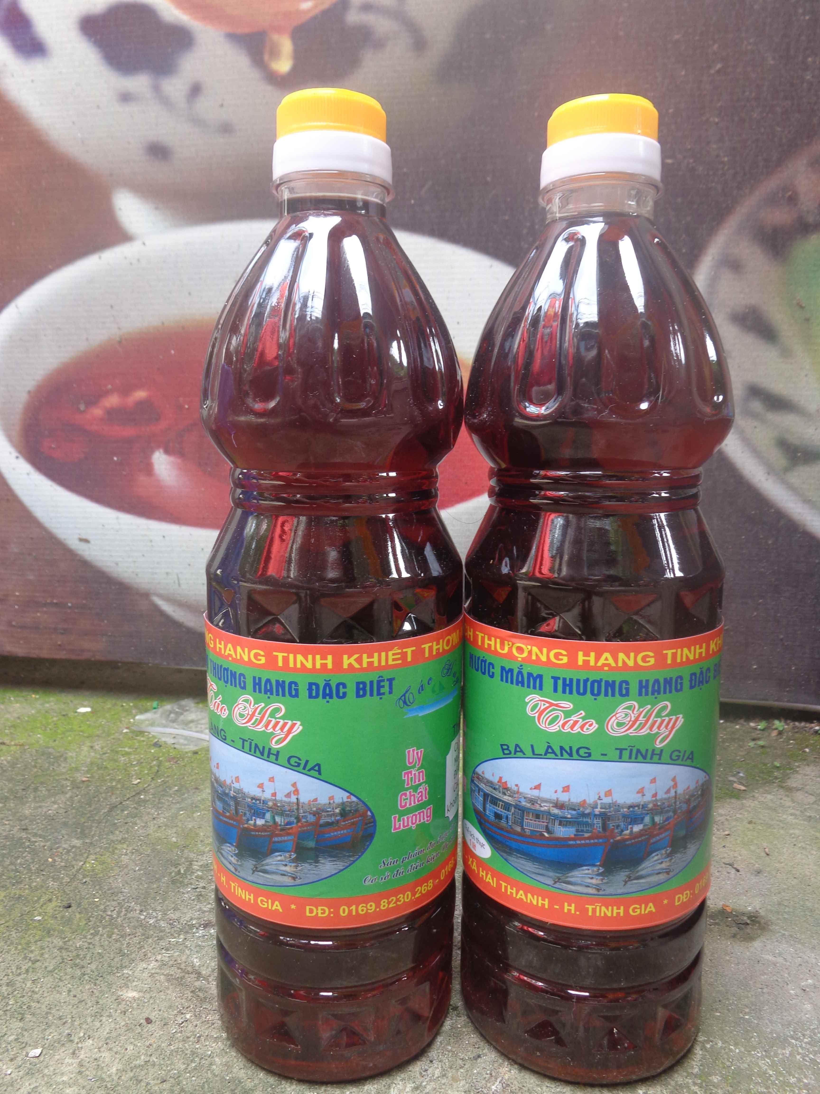 Nước mắm thượng hạng đặc sản Ba làng - Thanh Hóa (chai 1l)