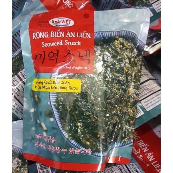Rong biển sấy khô ăn liền Nha Trang giòn ngon hấp dẫn!