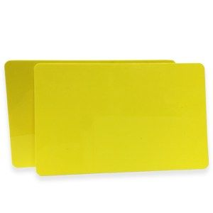 Yellow PVC Cards .76mm (500 Pack)