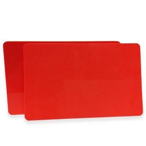 Red PVC Cards .76mm (500 Pack)
