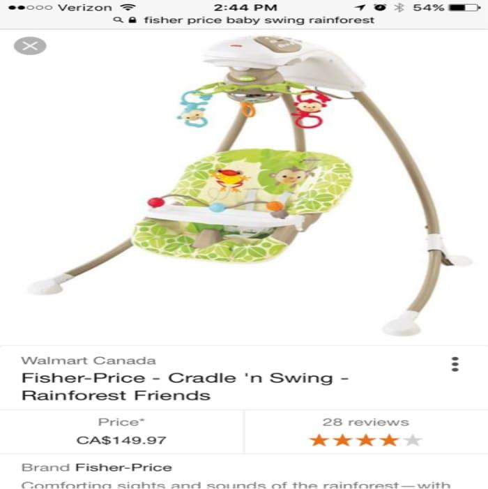 Patriot List Fisher Price Rainforest Friends Swing