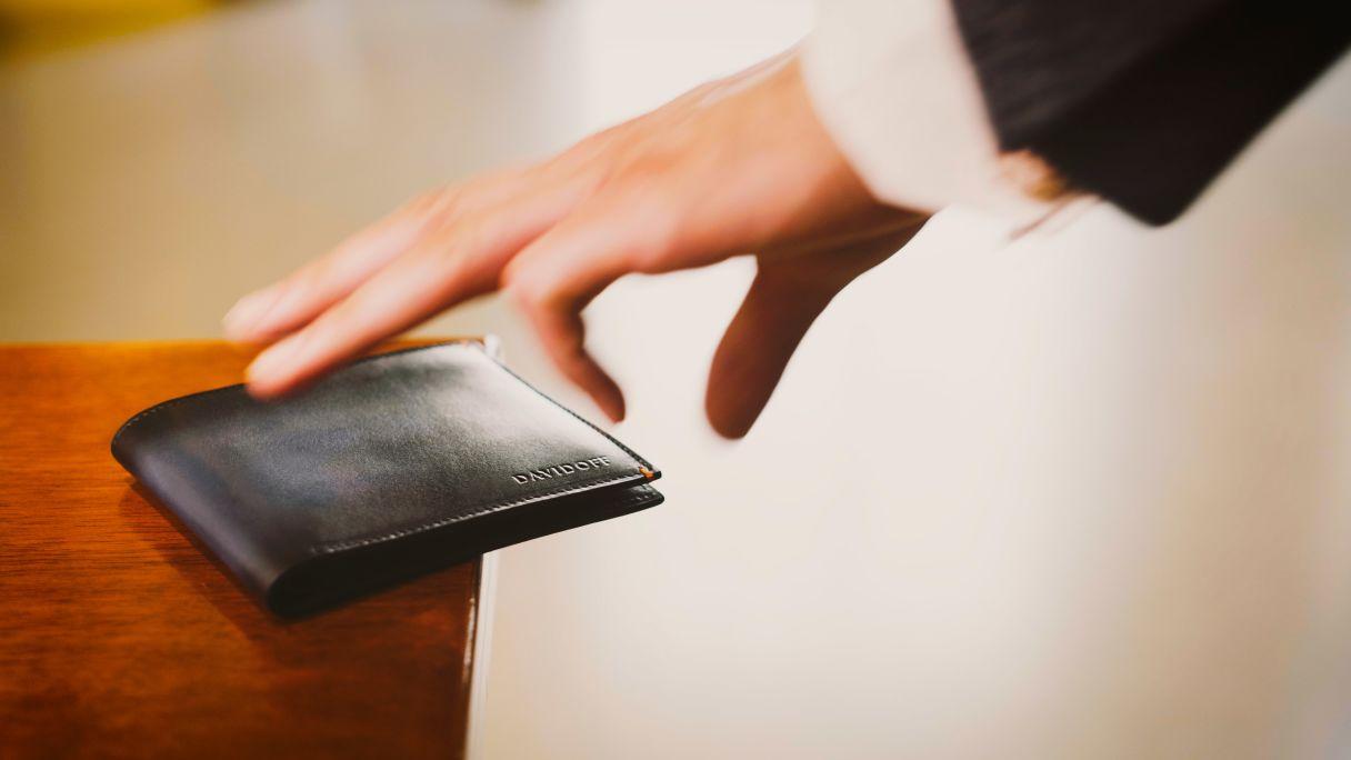 DAVIDOFF leather goods venice wallet