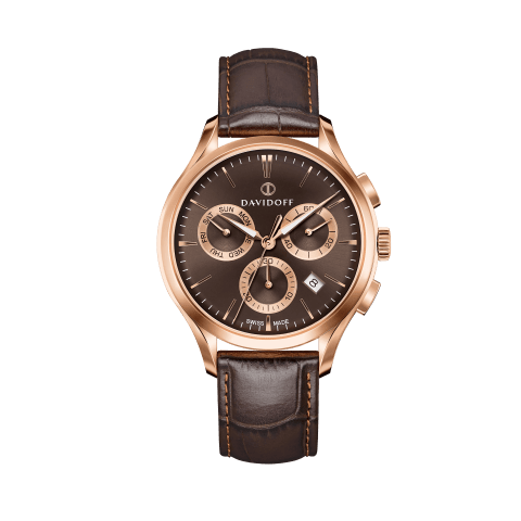 ESSENTIALS No. 1 Chronograph Brown - Rose Gold / Leather