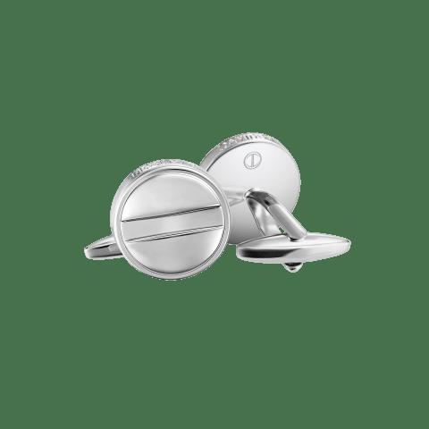 ESSENTIALS Cufflinks - ESSENTIALS Cufflinks - Round - Rhodium